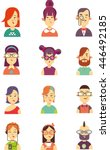 characters icons | Shutterstock .eps vector #446492185