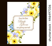 romantic invitation. wedding ...   Shutterstock . vector #446497336