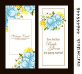 invitation with floral... | Shutterstock . vector #446499448