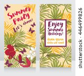 cards for summer party with... | Shutterstock .eps vector #446499826