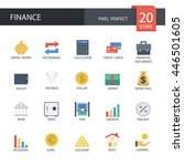 money and finance in flat icons ... | Shutterstock .eps vector #446501605
