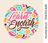 learn english  calligraphy ... | Shutterstock .eps vector #446501668