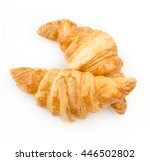 Croissant On White Background....