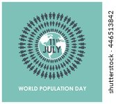 11th july world population day...   Shutterstock .eps vector #446513842