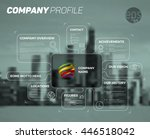 vector design infographic... | Shutterstock .eps vector #446518042