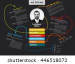 vector original minimalist cv   ... | Shutterstock .eps vector #446518072