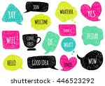 hand drawn speech  thought... | Shutterstock .eps vector #446523292