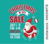 christmas in july sale...   Shutterstock .eps vector #446548978