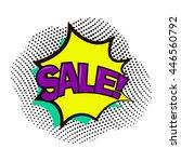 sale  pop art. vector... | Shutterstock .eps vector #446560792