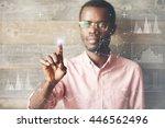 future technology  touchscreen...   Shutterstock . vector #446562496