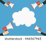 speech bubbles announced by... | Shutterstock .eps vector #446567965