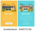 two vertical banner for web... | Shutterstock .eps vector #446571736
