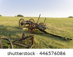 Old Wooden Horse Cart At Sunset