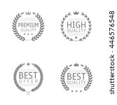 premium quality  high quality ... | Shutterstock .eps vector #446576548