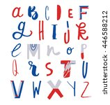 vector hand drawn funky... | Shutterstock .eps vector #446588212