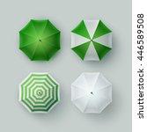 vector set of white green... | Shutterstock .eps vector #446589508