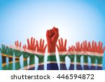 south africa national flag... | Shutterstock . vector #446594872