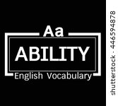 ability english word vocabulary ... | Shutterstock .eps vector #446594878