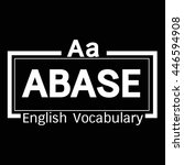 abase english word vocabulary... | Shutterstock .eps vector #446594908