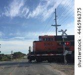 Railroad Crossing In Late June...