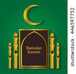 ramadan kareem background | Shutterstock . vector #446597752