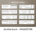 set of white horizontal textile ... | Shutterstock .eps vector #446600788