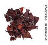Small photo of Dried roselle isolated on the white background.