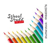 color pencils isolated on white ... | Shutterstock .eps vector #446604076