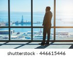 rearview of a confident mature... | Shutterstock . vector #446615446