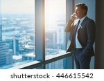 handsome business ceo with...   Shutterstock . vector #446615542