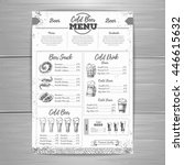 vintage beer menu design.  | Shutterstock .eps vector #446615632