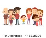 big family. | Shutterstock .eps vector #446618308