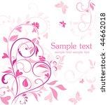 pink valentine card | Shutterstock .eps vector #44662018