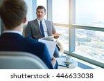 handsome mature corporate... | Shutterstock . vector #446633038