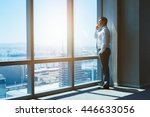 mature and confident business... | Shutterstock . vector #446633056