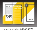 corporate trifold brochure... | Shutterstock .eps vector #446635876