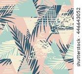 trendy seamless exotic pattern... | Shutterstock .eps vector #446643052