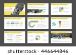Elements of infographics for presentations templates. Leaflet, Annual report, book cover design. Brochure, layout, Flyer layout template design. Vector Illustration.   Shutterstock vector #446644846
