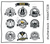 set of vintage beer badge logo... | Shutterstock .eps vector #446647228