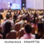 blur audience sitting in hall... | Shutterstock . vector #446649736