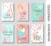 set of artistic colorful... | Shutterstock .eps vector #446652952