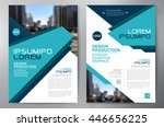 business brochure flyer design... | Shutterstock .eps vector #446656225