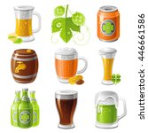 Drinks Icon Set With Beer...