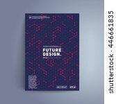 futuristic cover design.... | Shutterstock .eps vector #446661835