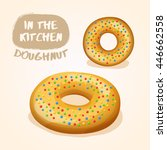 doughnut set   vector... | Shutterstock .eps vector #446662558