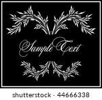 floral elegance frame | Shutterstock .eps vector #44666338