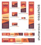super sale business standard 10 ... | Shutterstock .eps vector #446669608