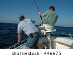 Men fishing - stock photo