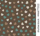 seamless hearts pattern. vector ... | Shutterstock .eps vector #446677312
