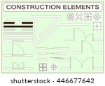 set of simple vector icons as... | Shutterstock .eps vector #446677642